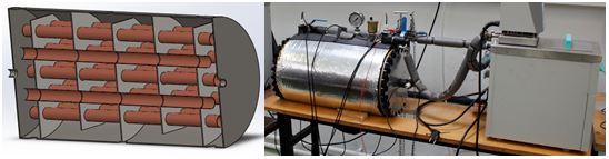 Intercambiador de calor con detectores de alteración en el almacenaje de energía.
