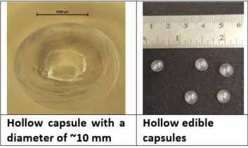 Edible Capsules For Food Texture and Flavor Modification