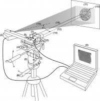 Portable device to measure the displacement maps on surfaces in the three spatial directions